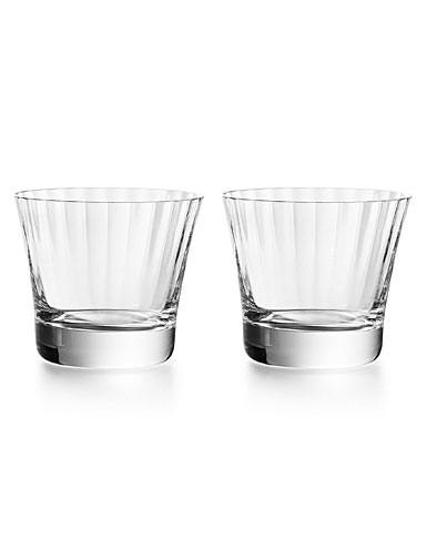 Baccarat Crystal, Mille Nuits Tumbler of No. 3, Boxed Pair