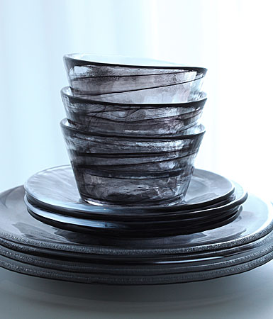 Kosta Boda Mine Bowl, Black
