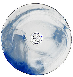 Kosta Boda Mine Large Plate, Blue
