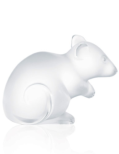 Lalique Crystal, Mouse Sculpture, Clear