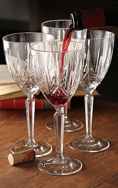 Marquis by Waterford Crystal, Sparkle Oversized Crystal Goblet / Crystal Red Wine, Set of Four