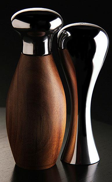 Nambe Monroe Salt Shaker & Pepper Grinder