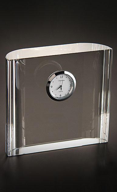 Orrefors Crystal, Vision Square Desk Crystal Clock