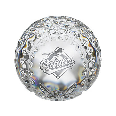 Waterford Baltimore Orioles Crystal Baseball
