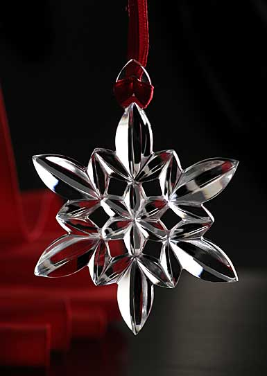 Orrefors Crystal, Snowflake Crystal Christmas Ornament