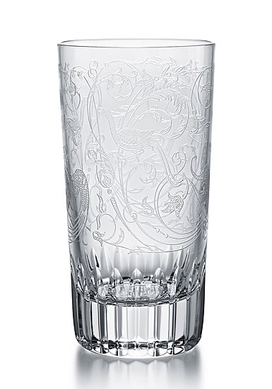 Baccarat Crystal Parme Highball Glass, Single