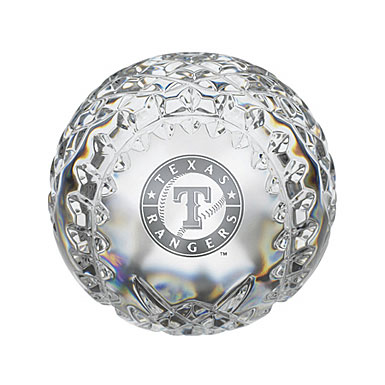 Waterford Texas Rangers Crystal Baseball