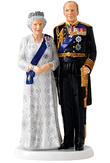Royal Doulton Pretty Ladies Queen Elizabeth's Platinum Wedding Anniversary, Limited Edition of 1000 Pieces