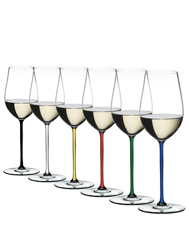 Riedel Fatto A Mano, Riesling, Zinfandel Glasses Crystal Wine Glasses, Set of 6