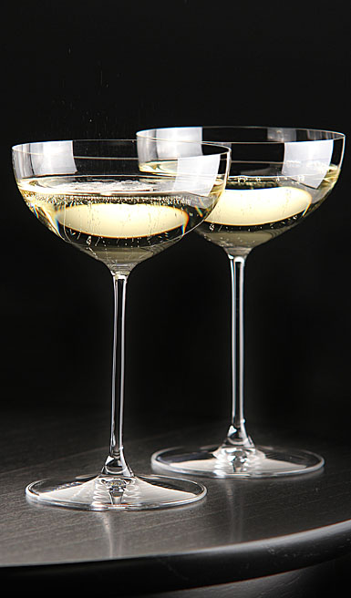 Riedel Veritas, Coupe, Moscato, Martini Crystal Wine Glasses, Pair