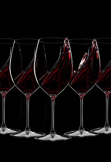 Riedel Veritas, Cabernet, Merlot Crystal Wine Glasses Set of 6 + 2 Free