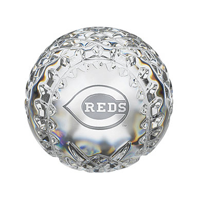 Waterford Cincinnati Reds Crystal Baseball