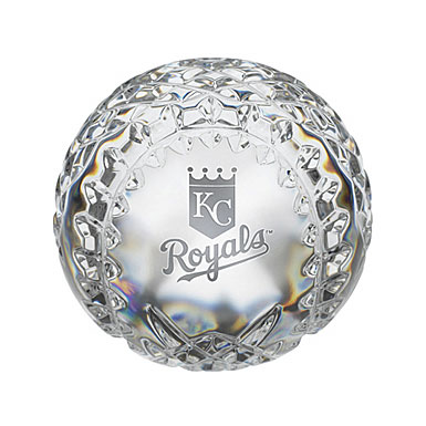 Waterford Kansas City Royals Crystal Baseball