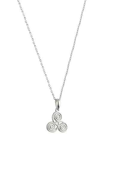 Cashs Ireland, Sterling Silver Celtic Spiral Pendant Necklace