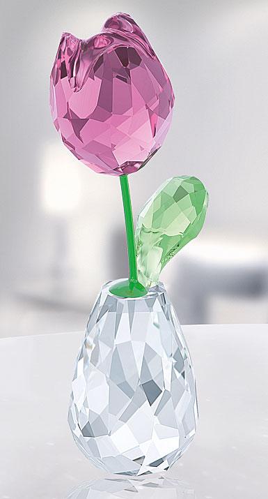 swarovski crystal  flower dreams pink tulip