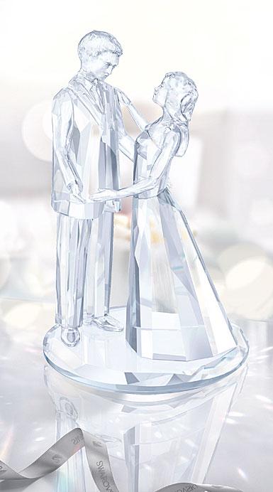 Swarovski Crystal, Wedding Love Couple Sculpture