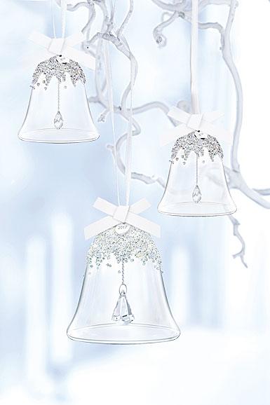 Swarovski Crystal, 2017 Annual Christmas Bell Crystal Ornament Set