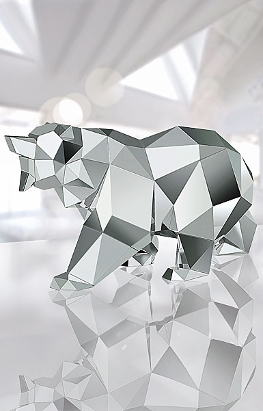 Swarovski Bear Sculpture By Arran Gregory