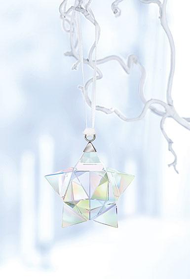 Swarovski Crystal, Aurora Borealis Star Crystal Ornament, Small