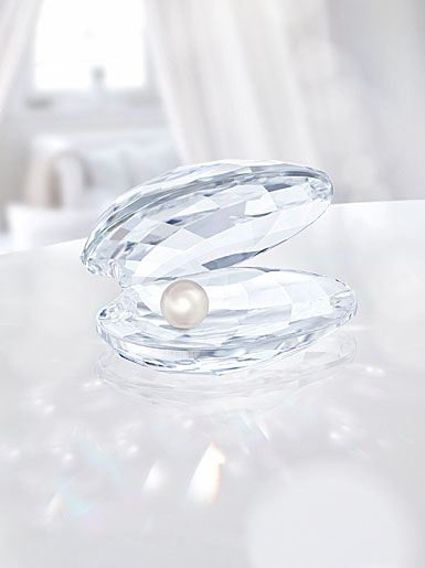 Swarovski Crystal, Shell With Pearl, Small