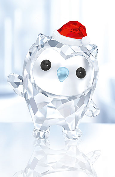Swarovski Crystal, Lovlots Hoot the Owl Crystal Figure, Happy Holidays 2017 Annual Edition