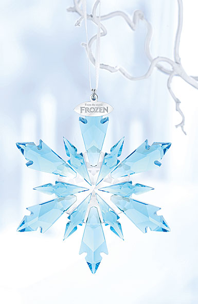 Swarovski Crystal, 2018 Disney Frozen Snowflake Crystal Ornament