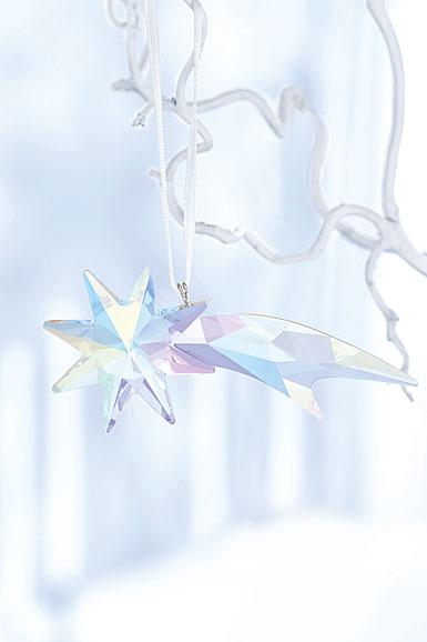 Swarovski Crystal, Shooting Star Aurora Borealis Crystal Ornament
