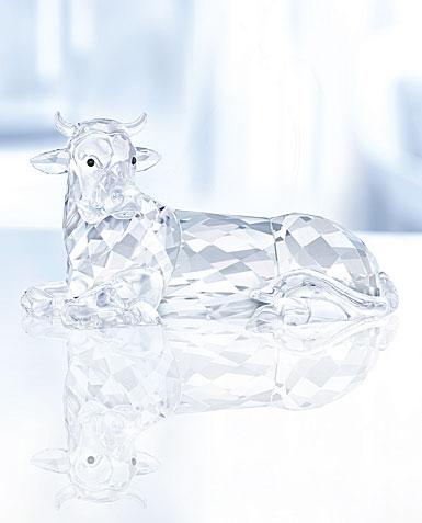 Swarovski Crystal, Nativity Scene, Ox Crystal Figure