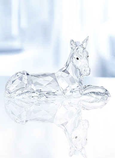 Swarovski Crystal, Nativity Scene, Donkey Crystal Figure
