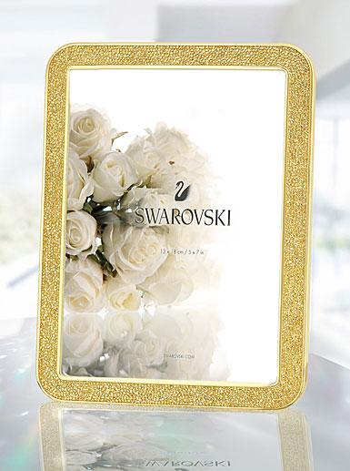 Swarovski Crystal, Minera Gold Tone 5x7\