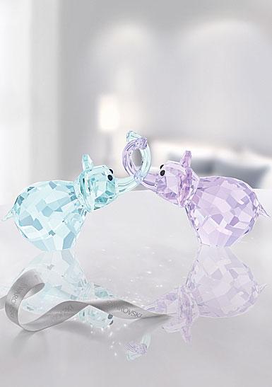 Swarovski Crystal, Lovlots Elephants In Love, Paul and Paula