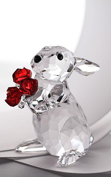 Swarovski Rabbit With Roses