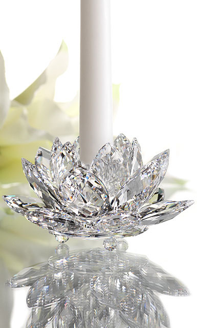 Swarovski Crystal Paradise Waterlilly Crystal Candleholder Small