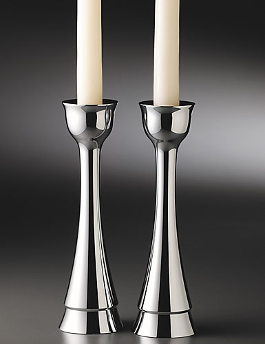 "Nambe Metal Sabbath 8"" Candlesticks, Pair"