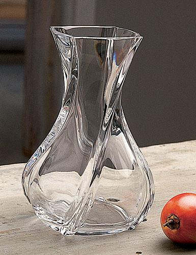 "Baccarat Crystal, Serpentin 6"" Crystal Vase"