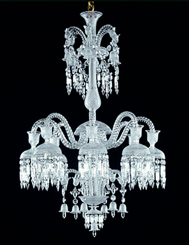 Baccarat Crystal, Solstice Crystal Chandelier, 8 Light