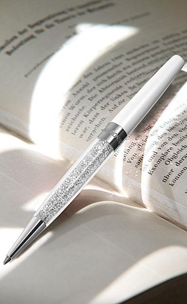 Swarovski Crystalline Stardust Ballpoint Pen, Diamond Crystal and White