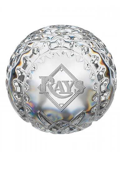 Waterford Tampa Bay Rays Crystal Baseball