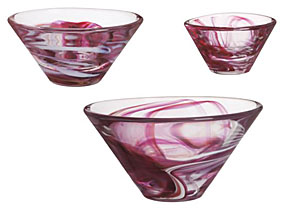 Kosta Boda Tempera Bowl, Small Pink - Breast Cancer Awareness Special!
