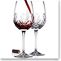 Cashs Ireland, Annestown Cabernet, Merlot Crystal Wine Glasses Pair