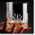 Cashs Ireland, Annestown King Size 3OF Scotch Crystal Whiskey Glasses, Pair