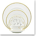 Vera Wang Wedgwood China Gilded Leaf, 5 Piece Place Setting