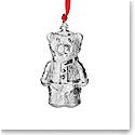 Steuben Teddy Bear Ornament