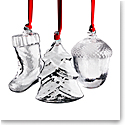 Steuben 2019 Holiday Ornament Gift Set