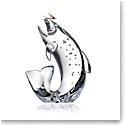 Steuben Trout & Fly Sculpture