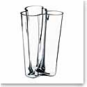 """Iittala Alvar Aalto Finlandia 8"""" Vase, Clear"""