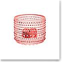 Iittala Kastehelmi Tealight Candleholder Salmon Pink