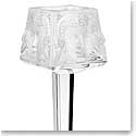 Lalique Crystal, Masque De Femme Crystal Votive On Stand