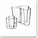 Iittala Alvar Aalto Clear Vase, Set of 2