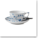 Royal Copenhagen, Blue Fluted Plain Tea Cup & Saucer 9.25oz.